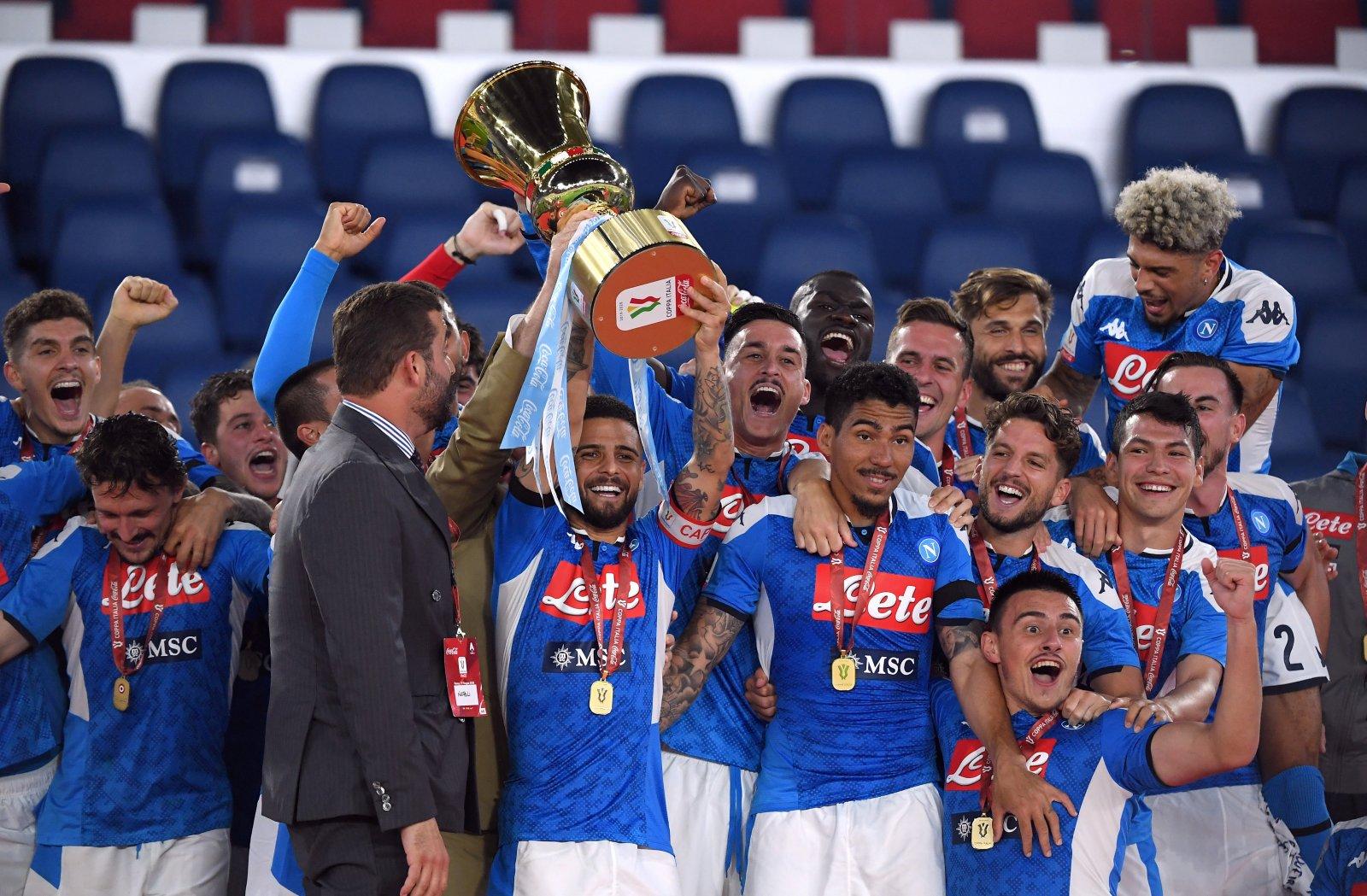 Maradona Celebrates With Napoli After Coppa Italia Triumph Forza Italian Football